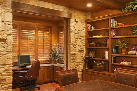 country office hill country style rustic home office
