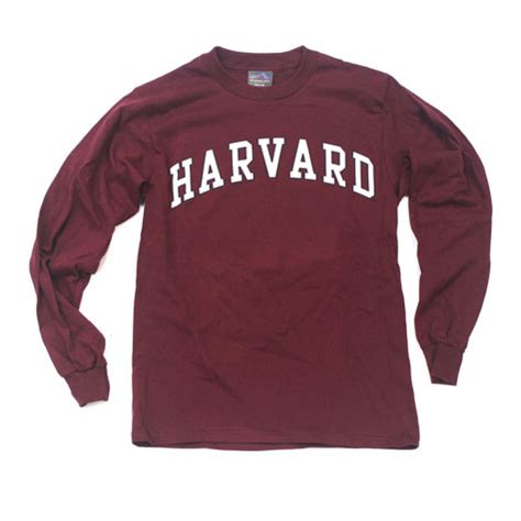 T Shirt Harvard Marun by Sleeve T Shirts Harvard Clothing