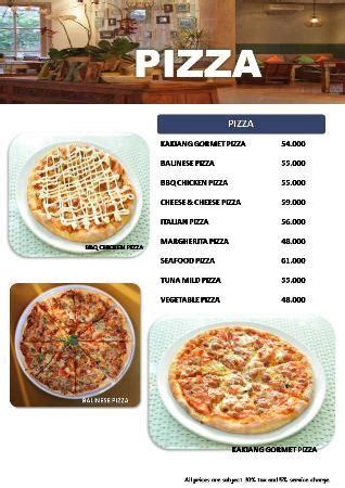backyard pizza menu pizza menu foto kakiang garden cafe ubud tripadvisor