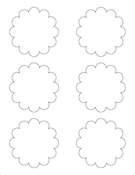 scalloped edge template 8 best images of printable scallop template scalloped