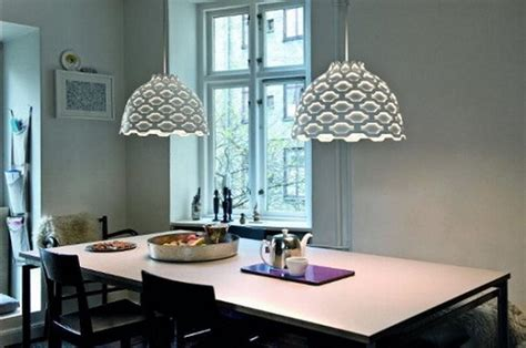 modern hanging light for dining room home interiors