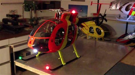 Hughes 500 Beleuchtung hughes 500e mit 12s robbe elektoantrieb und power led