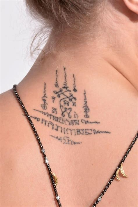 cara tattoo cara delevingne khmer neck khmer tattoos