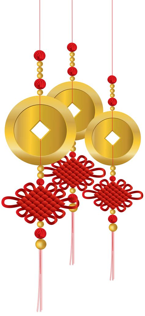 chinese knot decoration png clip art  web clipart