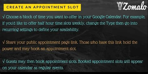 Calendar Appointment Slots Calendar Appointment Slots Automate Scheduling
