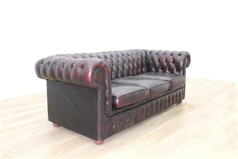 executive leather sofa oxblood leather chesterfield executive office reception sofa