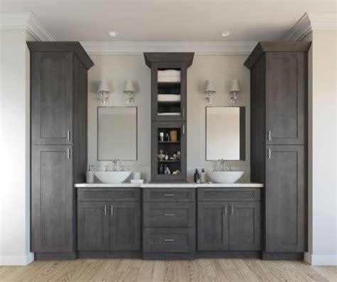 grey stain on maple shaker cabinets ready to assemble bathroom vanities bathroom vanities