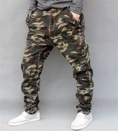 camouflage pattern jeans high quality hip hop camouflage jeans mens new fashion
