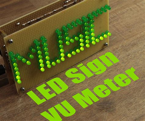 make your own led l make your own led sign vu meter