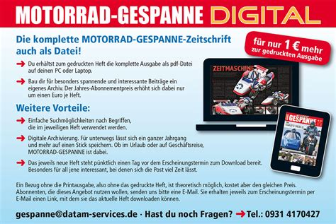 Motorrad Gespanne Digital by M G Digitalausgabe Motorrad Gespanne