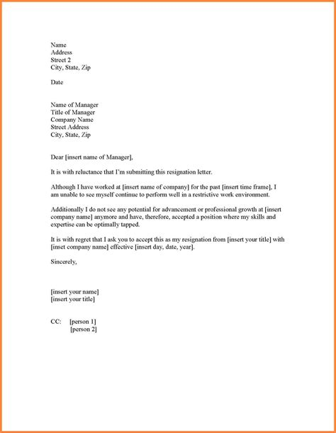 College Resignation Letter best resignation letter for personal reasons resignation letter for personal reasons the