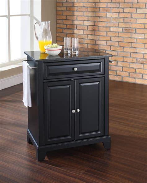 crosley newport kitchen island crosley newport portable kitchen island black solid black granite