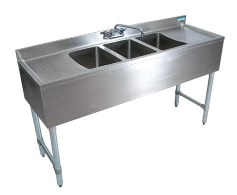 10 Wide Bar Sink by Bk 3 Bowl Bar Sink With Drainboards 72 Quot Wide 18 Quot Depth