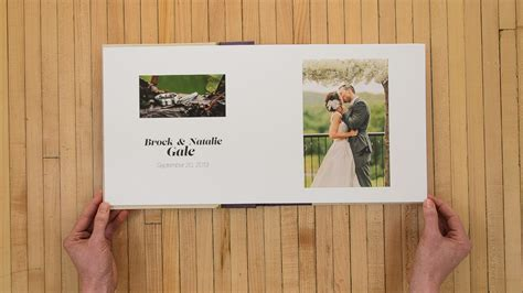 Handmade Wedding Albums - handmade album for a winery wedding myers