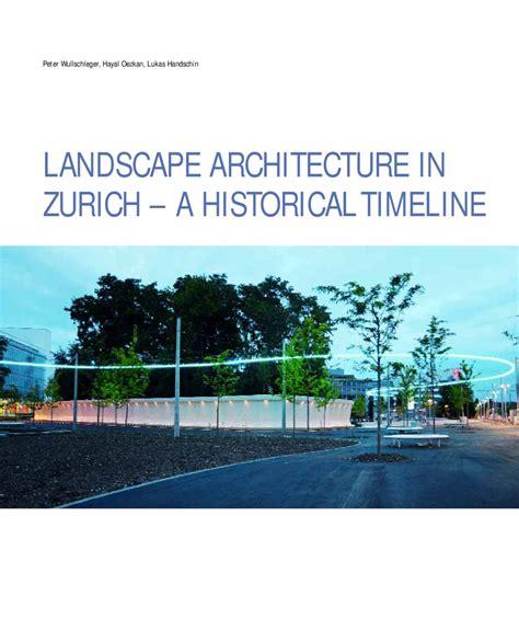Landscape Architecture History Timeline Landscape Architecture In Zurich A Historical Timeline
