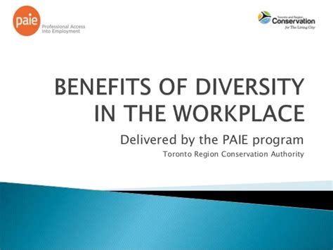 Advantages Of Mba In Canada by Benefits Of Diversity In The Workplace