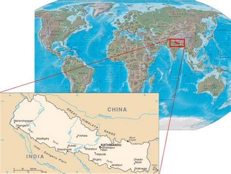nepal world map july 2011