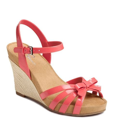 coral wedge sandals coral ivyplush wedge sandal