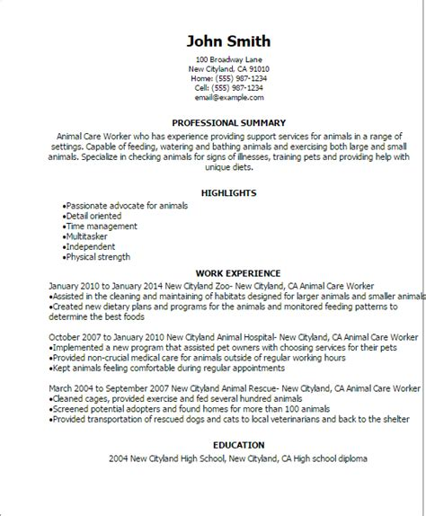 Professional Animal Care Worker Templates to Showcase Your