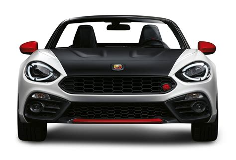 front png black and white fiat 124 spider abarth front view car png