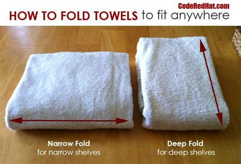 how to fold towels for bathroom how to fold towels to fit any shelf code red hat i ve