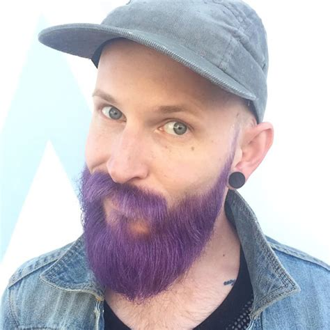 beard color merman trend are dyeing their hair with incredibly