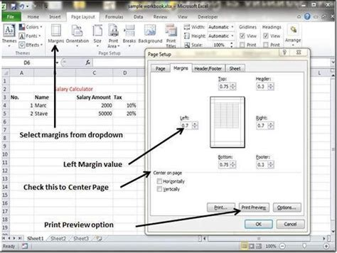 excel page layout problems margins do not fit page size error in excel 2007 change