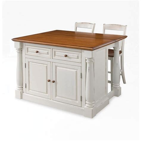 home depot kitchen islands home styles seaside lodge hand rubbed white kitchen island