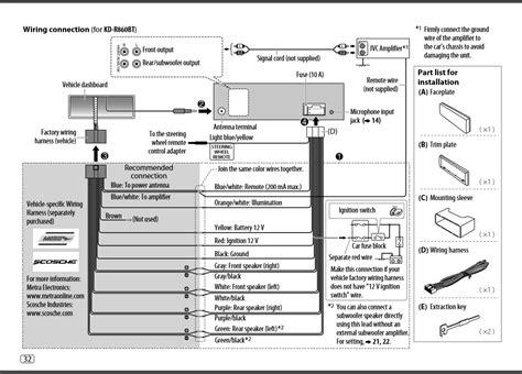 installation diagram   car stereo jvc kd