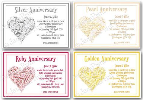 Wedding Anniversary Words by Wedding Anniversary Word Invitations Jemima Print