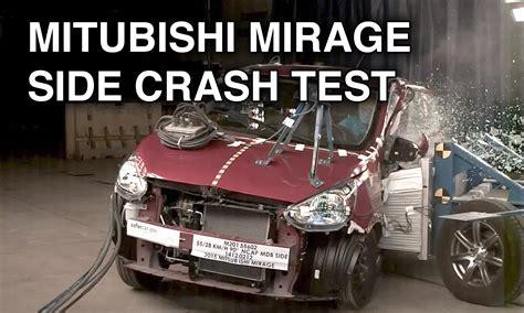 2015 mitsubishi mirage space star side crash test youtube