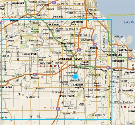 chicago map suburbs chicago south suburbs map