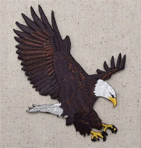 eagle applique large bald eagle patriotic american landing iron on