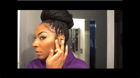 how do you do the bun in box braids how to style your braids quick styles jamexicanbeauty