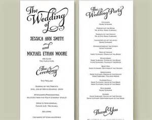etsy templates wedding program template etsy