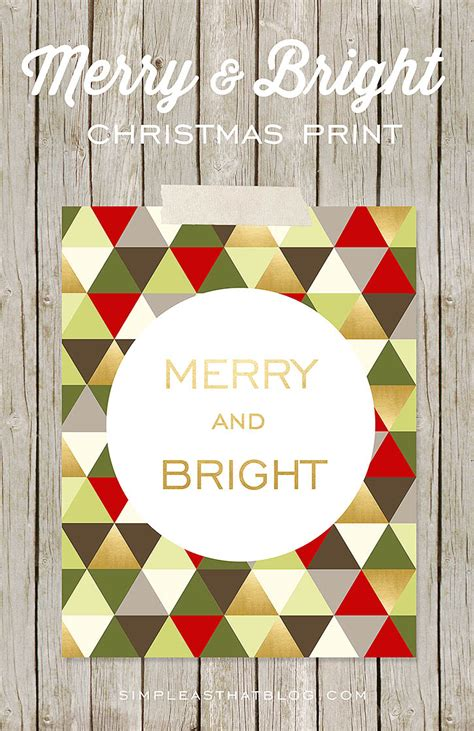 Merry Bright Christmas Printables For Framing | merry bright christmas printables for framing