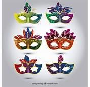 Sele&231&227o De M&225scaras Carnaval Coloridos Em Estilo