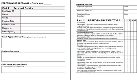 Appraisal Letter Format Doc performance appraisal form template places to visit