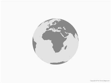 middle east globe map vector vector map of globe of africa single color free vector