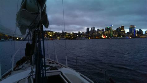 sailing boat union night sailing on lake union lake union charters and
