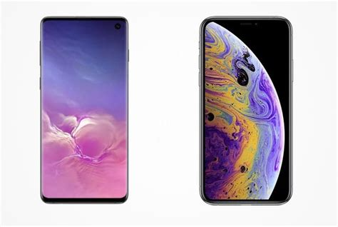 samsung galaxy s10 vs iphone xs south pricing