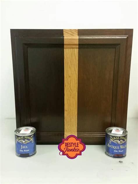 general finishes gel stain colors java gel stain vs antique walnut gel stain choosing