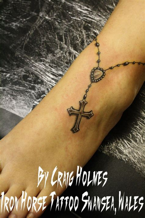 cross and rosary bead tattoos rosary beads with cross tattoo by craig holmes by