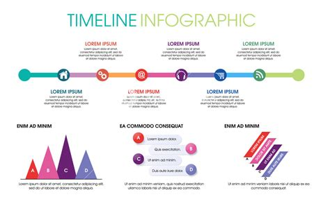 Creative Timeline Infographic Elements Layout With Various Web And Social Media Icons On White Social Media Timeline Template