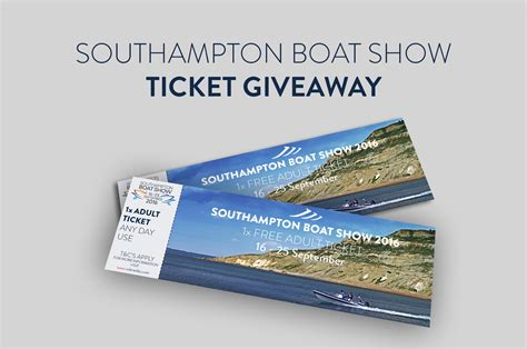 Ticket Giveaway - southton boat show ticket giveaway cobra ribs uk