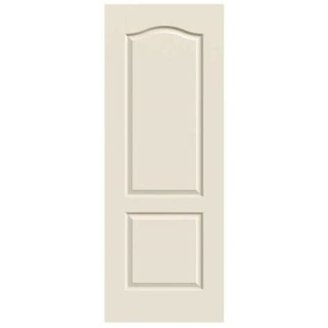 2 panel interior doors home depot jeld wen 30 in x 80 in molded smooth 2 panel eyebrow