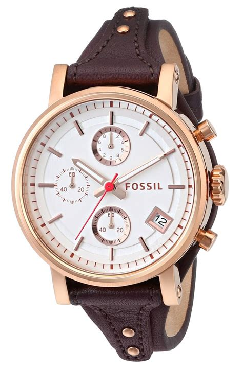 Fossil Logan Chronograph Leather Ori fossil s es3616 original boyfriend chronograph leather brown wants