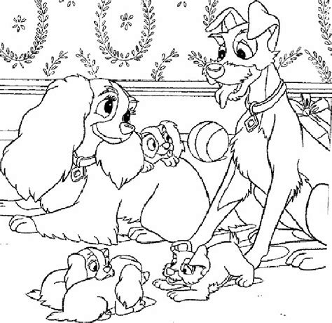 lady and the tr coloring pages coloring home