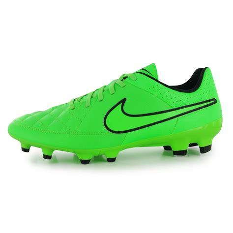 nike tiempo genio fg firm ground football boots mens green