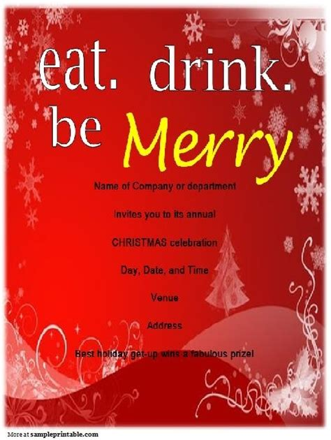 fun christmas party in chelmsford ma company invitations templates doyadoyasamos